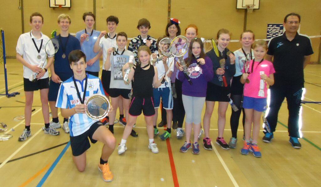 Holmfirth Badminton Club Juniors Xmas Tournament  2015/2016 at Honley High School