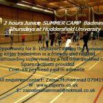 BADMINTON SUMMER CAMP 2018
